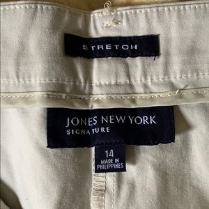 Jones New York Pants - Jones New York stretch khakis size 14 soft.